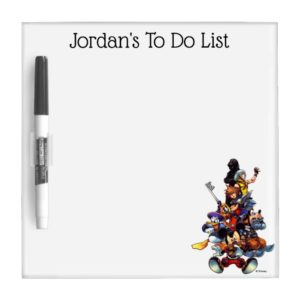 Kingdom Hearts: coded | Main Cast Key Art Dry Erase Board