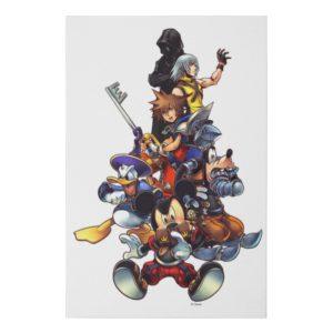 Kingdom Hearts: coded | Main Cast Key Art Faux Canvas Print