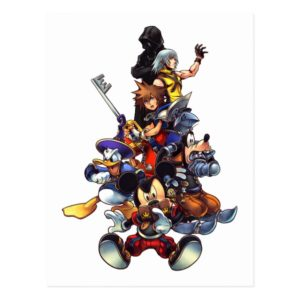 Kingdom Hearts: coded   Main Cast Key Art Postcard