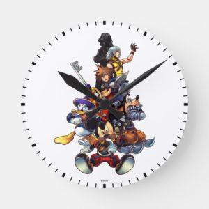 Kingdom Hearts: coded | Main Cast Key Art Round Clock