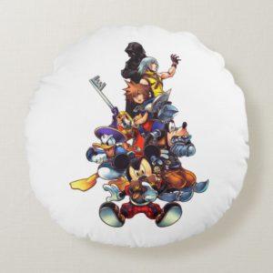 Kingdom Hearts: coded | Main Cast Key Art Round Pillow