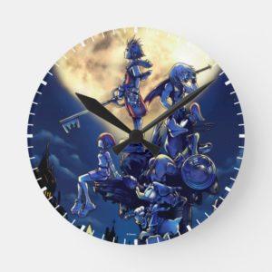 Kingdom Hearts   Heart Moon Box Art Round Clock