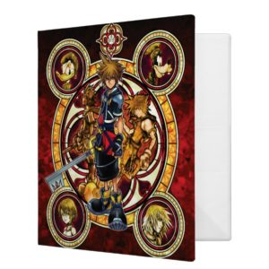 Kingdom Hearts II   Gold Stained Glass Key Art 3 Ring Binder