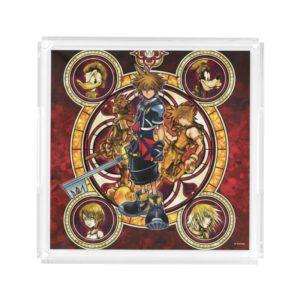 Kingdom Hearts II | Gold Stained Glass Key Art Acrylic Tray