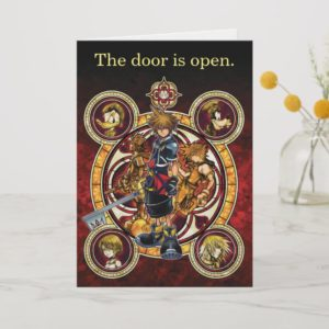 Kingdom Hearts II | Gold Stained Glass Key Art Card
