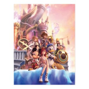 Kingdom Hearts II   Hollow Bastion Key Art Postcard