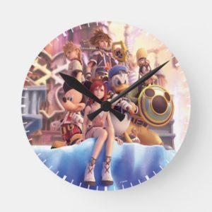 Kingdom Hearts II | Hollow Bastion Key Art Round Clock