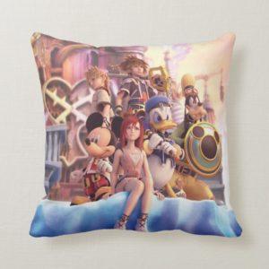 Kingdom Hearts II | Hollow Bastion Key Art Throw Pillow