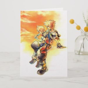 Kingdom Hearts II | Roxas & Sora Eating Ice Pops Card