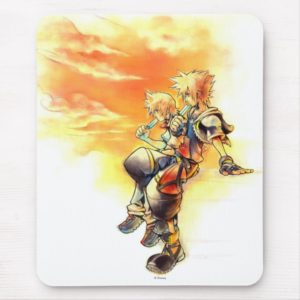 Kingdom Hearts II | Roxas & Sora Eating Ice Pops Mouse Pad