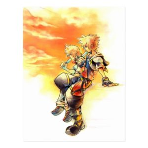 Kingdom Hearts II | Roxas & Sora Eating Ice Pops Postcard