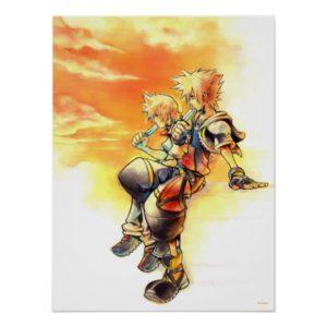 Kingdom Hearts II   Roxas & Sora Eating Ice Pops Poster