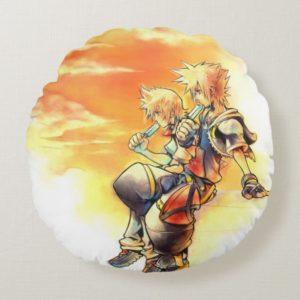 Kingdom Hearts II   Roxas & Sora Eating Ice Pops Round Pillow