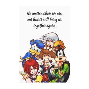 Kingdom Hearts | Main Cast Illustration Canvas Print