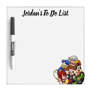 Kingdom Hearts   Main Cast Illustration Dry Erase Board