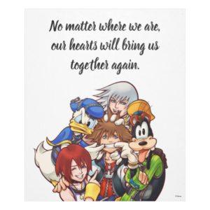 Kingdom Hearts   Main Cast Illustration Fleece Blanket