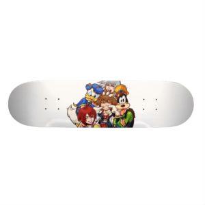 Kingdom Hearts | Main Cast Illustration Skateboard