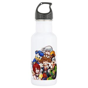 Kingdom Hearts | Main Cast Illustration Stainless Steel Water Bottle