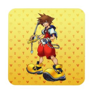 Kingdom Hearts | Sora Character Illustration Beverage Coaster