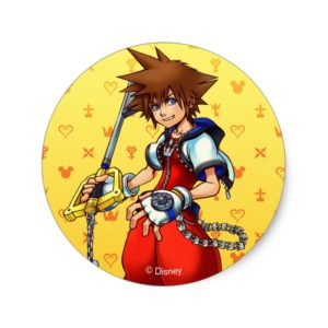 Kingdom Hearts | Sora Character Illustration Classic Round Sticker