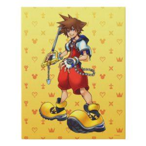 Kingdom Hearts   Sora Character Illustration Faux Canvas Print