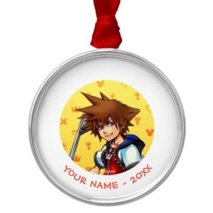 Kingdom Hearts | Sora Character Illustration Metal Ornament