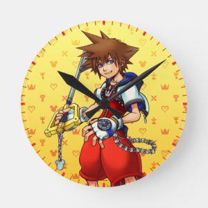 Kingdom Hearts | Sora Character Illustration Round Clock