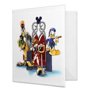 Kingdom Hearts | Sora, Donald, & Goofy On Throne 3 Ring Binder