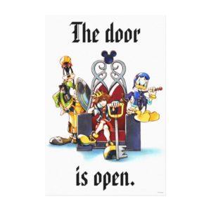 Kingdom Hearts | Sora, Donald, & Goofy On Throne Canvas Print