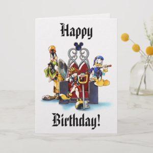 Kingdom Hearts   Sora, Donald, & Goofy On Throne Card