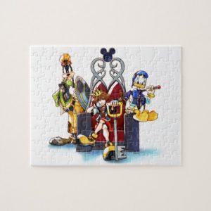 Kingdom Hearts | Sora, Donald, & Goofy On Throne Jigsaw Puzzle