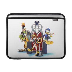 Kingdom Hearts | Sora, Donald, & Goofy On Throne MacBook Air Sleeve