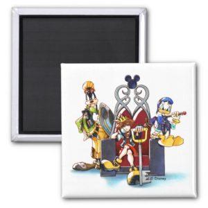 Kingdom Hearts | Sora, Donald, & Goofy On Throne Magnet