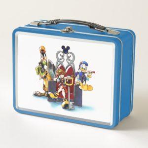 Kingdom Hearts | Sora, Donald, & Goofy On Throne Metal Lunch Box