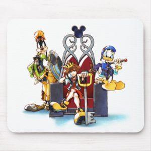 Kingdom Hearts | Sora, Donald, & Goofy On Throne Mouse Pad