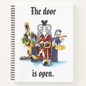 Kingdom Hearts | Sora, Donald, & Goofy On Throne Notebook