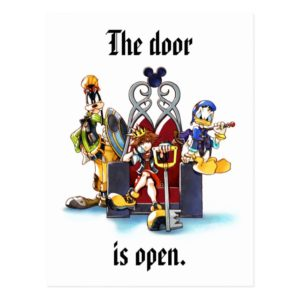Kingdom Hearts | Sora, Donald, & Goofy On Throne Postcard