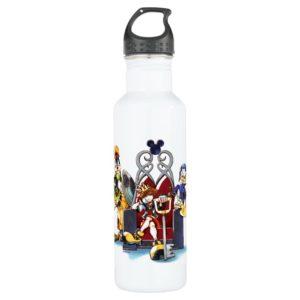 Kingdom Hearts | Sora, Donald, & Goofy On Throne Stainless Steel Water Bottle