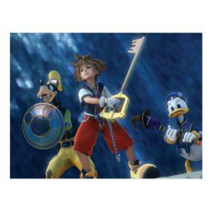 Kingdom Hearts   Sora, Goofy, & Donald Film Still Postcard