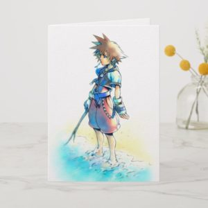 Kingdom Hearts | Sora On Beach Watercolor Card