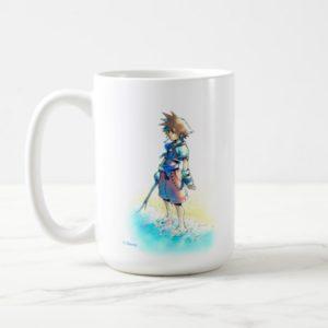 Kingdom Hearts   Sora On Beach Watercolor Coffee Mug