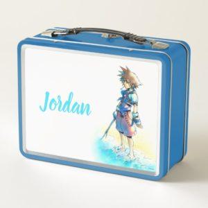 Kingdom Hearts | Sora On Beach Watercolor Metal Lunch Box