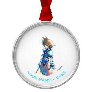 Kingdom Hearts   Sora On Beach Watercolor Metal Ornament