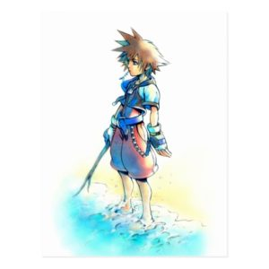 Kingdom Hearts   Sora On Beach Watercolor Postcard