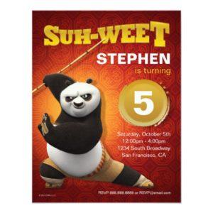 Kung Fu Panda | Po Warrior Birthday Invitation