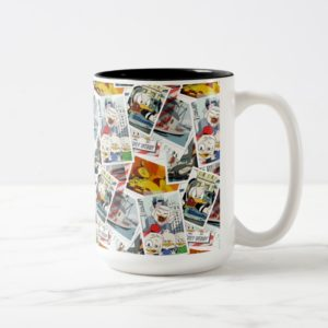 Let the Adventure Begin Pattern Two-Tone Coffee Mug