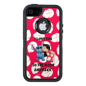 Lilo & Stich   I Love You To The Moon OtterBox iPhone Case