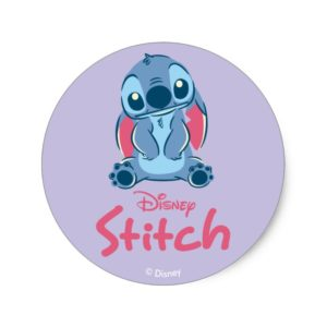Lilo & Stich   Stitch & Scrump Classic Round Sticker