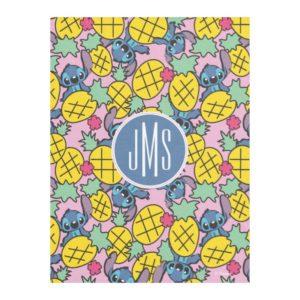 Lilo & Stitch | Monogram Pineapple Pattern Fleece Blanket