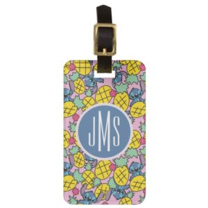 Lilo & Stitch | Monogram Pineapple Pattern Luggage Tag